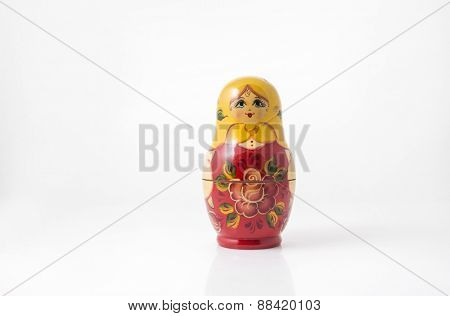 Single hand-painted tiny Russian doll.