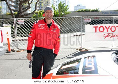 LOS ANGELES - FEB 18:  Joshua Morrow at the Toyota Grand Prix Pro/Celeb Race at the Toyota Grand Prix Racecourse on April 18, 2015 in Long Beach, CA