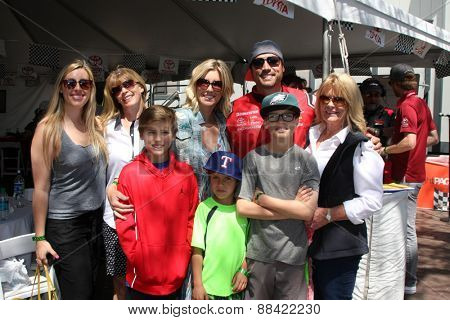 LOS ANGELES - FEB 18:  Joshua Morrow, Tobe Morrow, sons, mom, mother in law, sister at the Toyota Grand Prix Pro/Celeb Race at the Toyota Grand Prix Racecourse on April 18, 2015 in Long Beach, CA