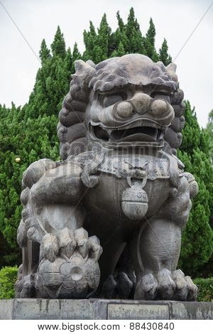 Imperial guardian lion at the National Palace Museum in Taipei poster