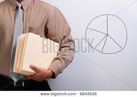 Man Holding Manila Folders