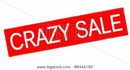 Rubber stamp with text crazy sale inside vector illustration