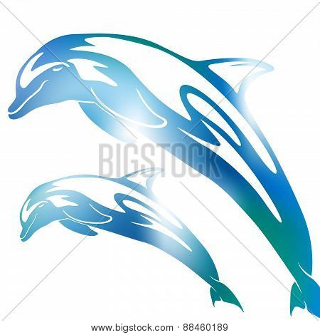 Abstract Dolphin Blur