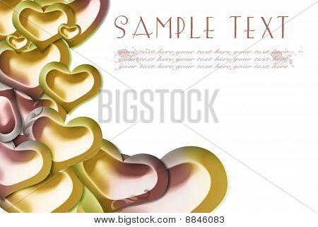 golden pink card
