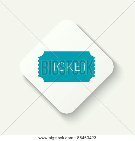 Entry ticket. Admit one theater, cinema, zoo, swimming pool, fair, rides, swing, amusement park, carousel. icon for online booking of tickets. Web and mobile app. flat design poster