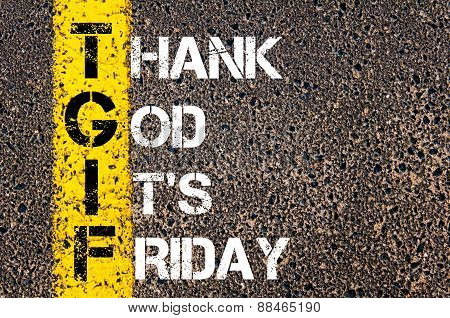 Acronym Tgif As Thank God It's Friday