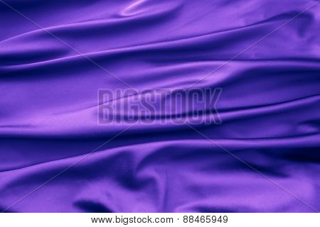 Soft Velvet Piece Of Purple Fabric With Folds