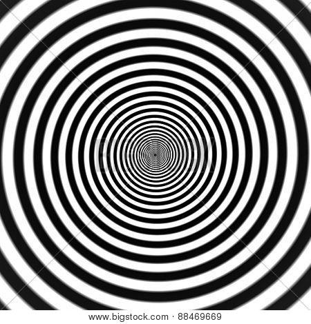 Hypnotic spiral vector illustration