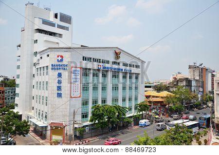 Exterior View Of Bangkok Hospital In Chinatown, Bangkok