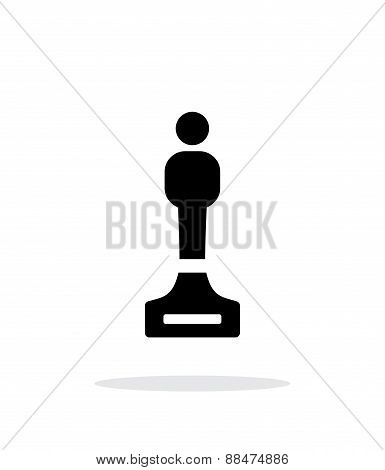 Best person simple icon on white background.