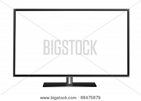 Modern blank flat screen TV set.