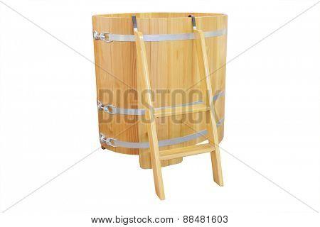 Phytotherapy. Cedar bath - barrel