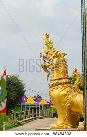 Kodchasri the deamon animal statue