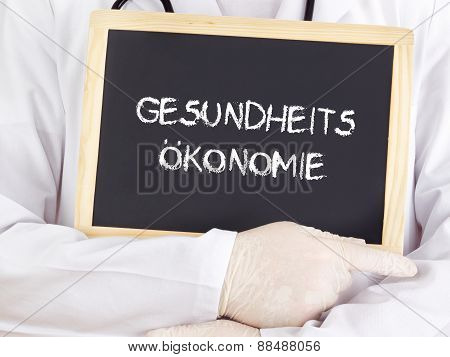 Doctor Shows Information: Health Economics In German