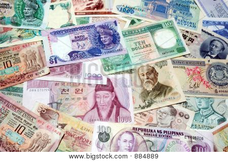 Asian Currency Background 1
