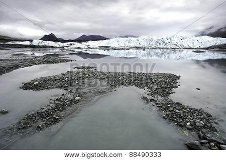 Alaska Glacier Lake - Wide Angle View