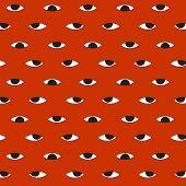 hundred evil eye vector halloween pattern background poster