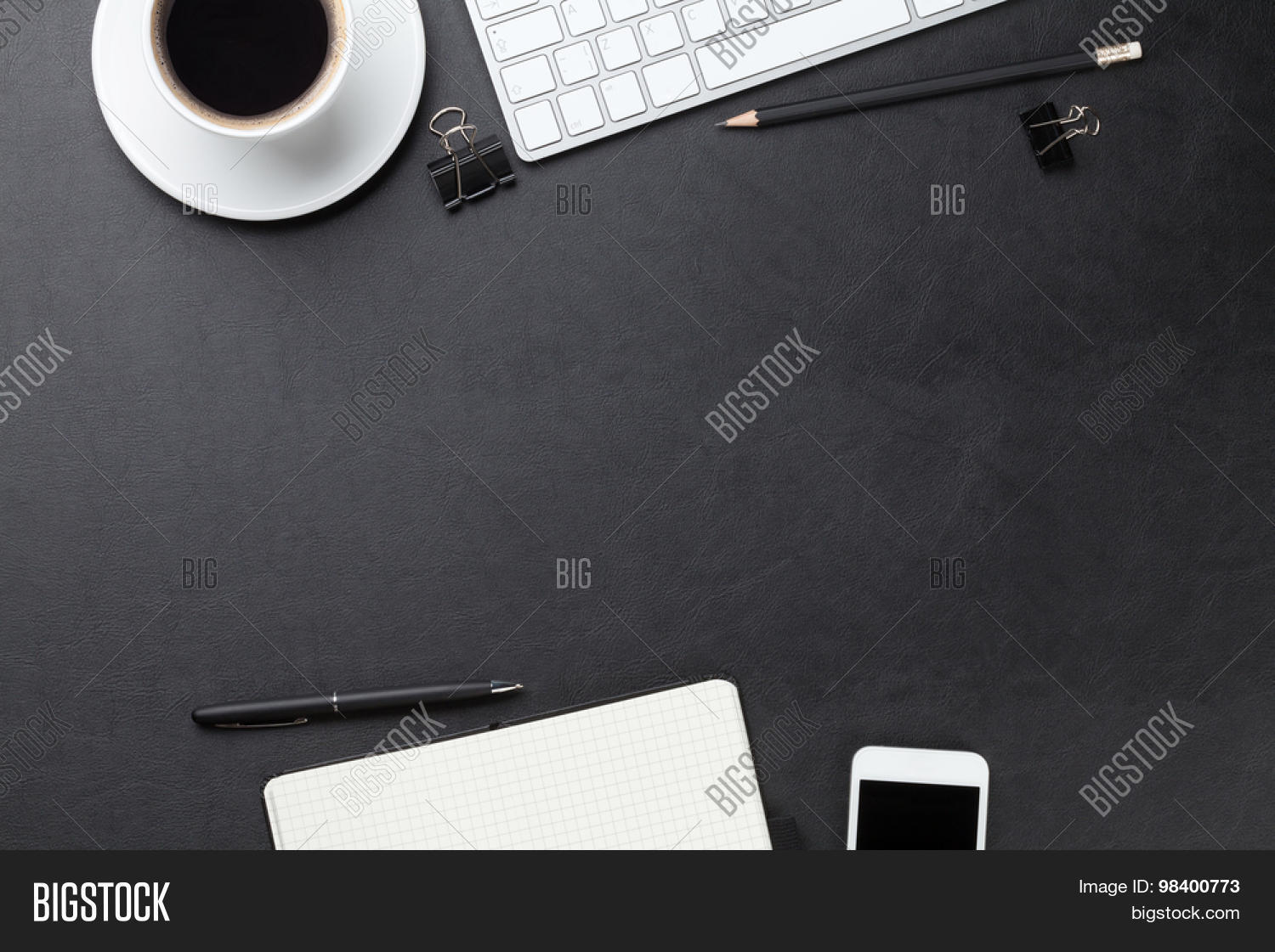 Office Leather Desk Image Photo Free Trial Bigstock