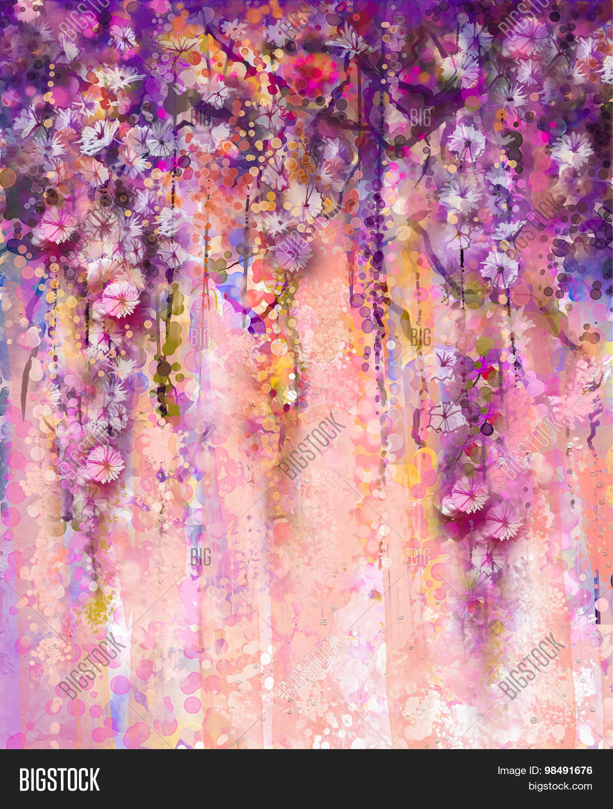Abstract Pink Violet Image Photo Free Trial Bigstock