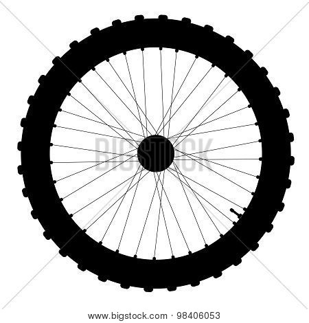 Bicycle Wheel Silhouette