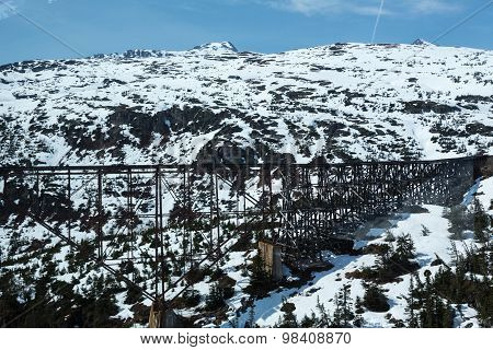 View of a bridge on the White Pass and Yukon Route Railroad poster