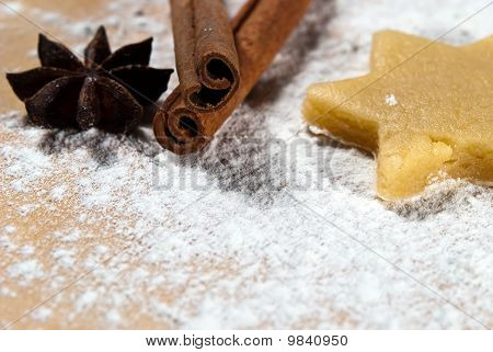 Star With Cinnamon Sticks And Star Anise V2
