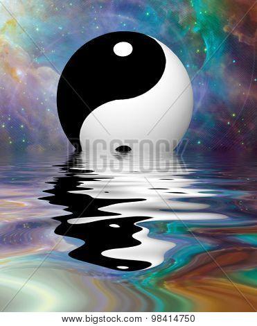 Yin Yang Stars Reflect