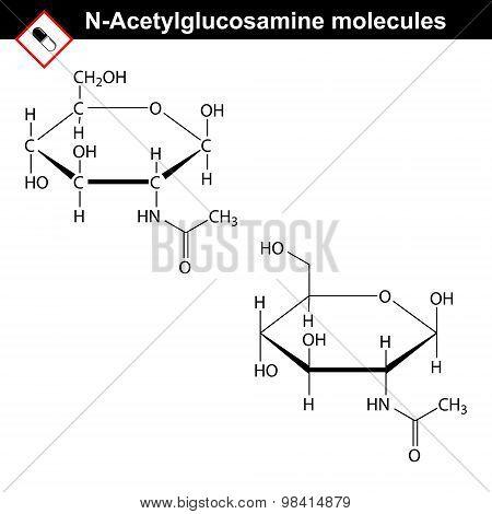 N-acetylglucosamine Nag Molecule