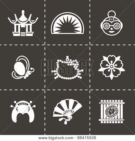 Vector Japan icon set