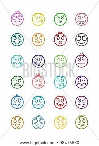 24 Smiles Icons Set 8