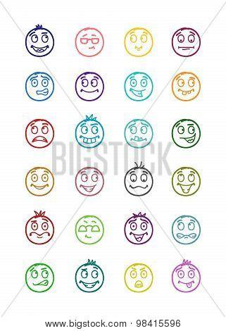 24 Smiles Icons Set 7