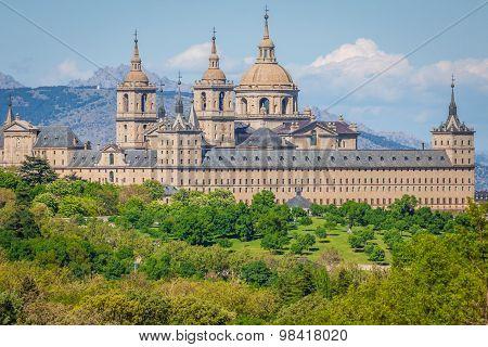 The Royal Seat Of San Lorenzo De El Escorial, Historical Residence Of The King Of Spain, About 45 Ki