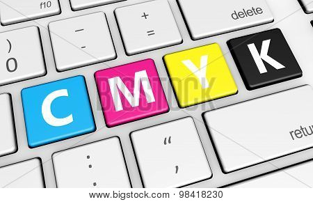 Cmyk Digital Offset Printing Keys Concept