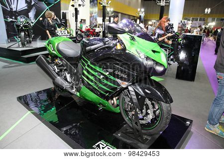 Bangkok - August 4: Kawasaki Zx-14R Motorcycle On Display At Big Motor Sale On August 4, 2015 In Ban