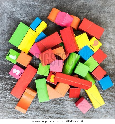 Pile of bricks, building blocks