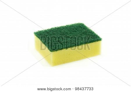 washing sponge isolated on white background.