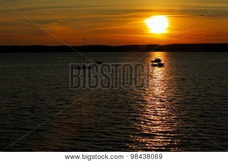 Sunset Boats Water St. Andrews Canada