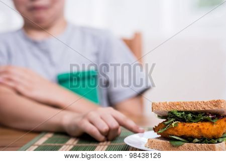 Refusing To Eat Chicken Sandwich