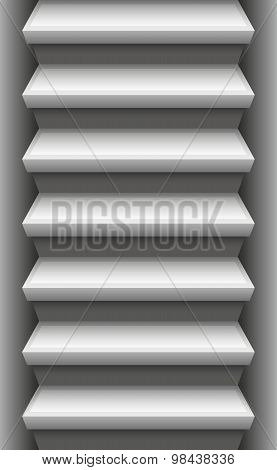 Stone stair - endlessly expendable upwards and downwards. Vector illustration. poster