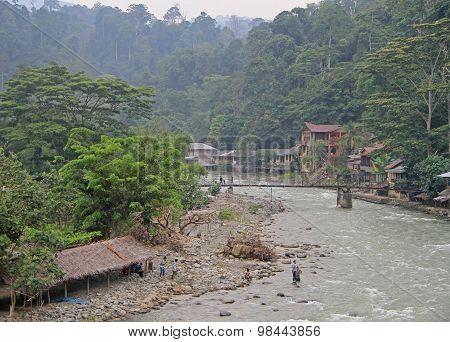 village Bukit Lawang, the north Sumatra