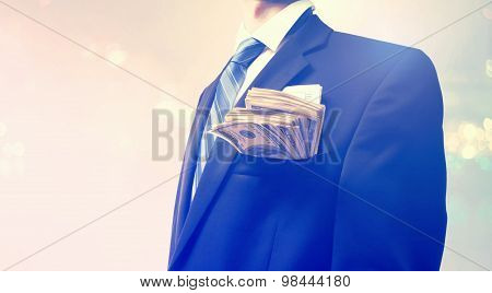Businessman With Wad Of Cash