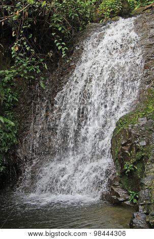 small waterfall nearly Bukit Lawang