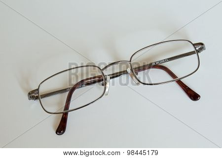 glasses against a white background