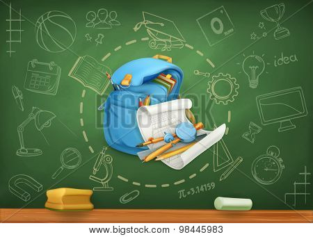 School, infographics vector background