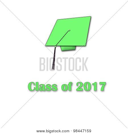 Class of 2017 Green on White Single Lg