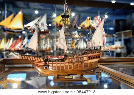Wooden Replica Of The Old Famous Vessel