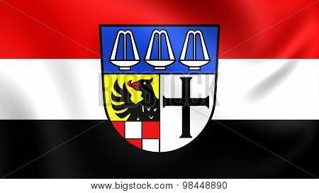 Flag Of Bad Kissingen Landkreis, Germany.