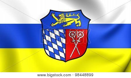 Flag Of Bad Tolz-wolfratshausen Landkreis, Germany.