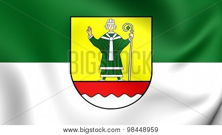 Flag Of Cuxhaven Landkreis, Germany.