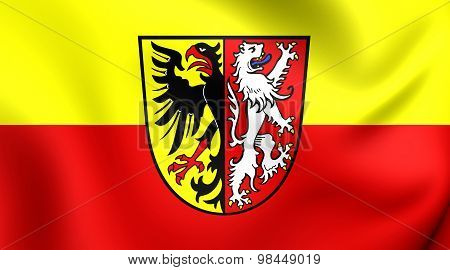 Flag Of Goslar Landkreis, Germany.